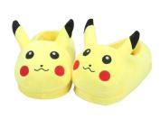 Unisex Wanziee Pikachu Pokemon Plush Slippers - Pokemon Go- Pikachu Animal Cosplay (Yellow) - One size slippers for Dress Up Cartoon Party Halloween for adults/girls/boys