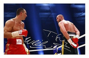 Tyson Fury & Wladimir Klitschko Signed Autographed A4 Photo Print Poster