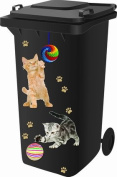 Wheelie Bin Stickers - Cat / Kitten - .