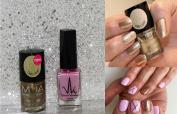 Gold & Lilac Glitter Shimmer Duo Nail Varnish Set