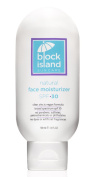 Block Island Organics - Natural Face Moisturiser SPF 30 with Clear Zinc - Broad Spectrum UVA UVB Protection - Daily Anti-Ageing Sunscreen Sunblock - EWG Top Rated - Non-Toxic - Made in USA - 100ml