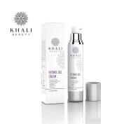 Khali Beauty Advanced Age Intervention Retinol Gel Cream–Anti-Wrinkle Facial Night Cream-All Natural Botanicals,Hyaluronic acid,Sea Kelp Bioferment,Matrixyl 3000,Vitamin C & E-Moisturises & Hydrates 50ml