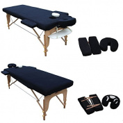H-ROOT Massage Table Couch Cover (Fits Up To 186cm Long x 60cm Wide). With Covers For Headrest And Armrest