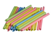 Wicemoon Disposable Drinking Straw Pearl Milk Tea Colourful Long Extra Thick Plastic Straw 100pcs/Pack