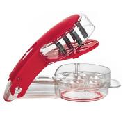Vzer Kitchen Gadget Stainless Steel Zigzag Blades Cherry Pitter - 6 Cherries