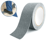 Marsway Anti Slip Treads Tape 5.5m Length x 5.1cm Width Grey Removable Adhesive Abrasive Sticker for Bathroom, Ramps, Stairs, Treads