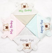 100% Organic Cotton Hooded Baby Bath Towel And Washcloth by Nianma Baby