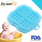 InfantCo Anti-bacterial FDA-approved Ultra Soft Baby Bath Silicone Scrubber Sponge, Foam Rub Microwave or Boil Water Sterilising