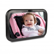 BATTOP Adjustable Baby Back Seat Mirror-View Rear Facing infant in Backseat Shatterproof Crystal Clear Reflection