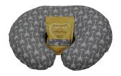 Nursing Pillow Slipcover Grey Arrow Design Maternity Breastfeeding Newborn Infant Feeding Cushion Cover Case Baby Shower Gift for New Moms