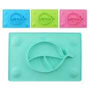 Eoozon Whale Silicone Baby Placemat Plate, BPA Free, One Piece
