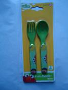 Sesame Street Chidren Elmo Fun Meal Utensils - Fork & Spoon Set