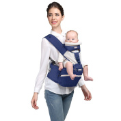 Kangaroobaby Baby Hip Seat Carrier 8 in 1 Carry Ways Multi-Functional Carry Backpack Blue