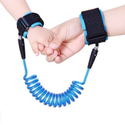 Anti Lost Child Safety Wrist Link | For Babies, Toddlers, Kids | Breathable Cotton Strap | Double Hook and loop Wrist Straps | Stainless Steel Connectors