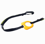 Kidsmile By-My-Side Child Safety Harness, Adjustable Toddler Tether with Baby Child Anti Lost Safety Wristband and Hang on Spring-loaded Gate Locking Carabiner, Perfect Security Kid Keeper,Orange