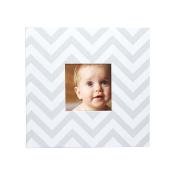 Pearhead Chevron Baby Photo Album, Grey