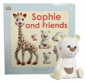 Sophie and Friends La Giraffe Toy Set Gabin The Bear Rattle with Sophie and Friends Book