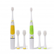 MYUS 2PCS Intelligent Child Sonic Toothbrush LED Light Child Electric Toothbrush Smart Reminder SG-618 for Baby Child Kid with Extra 4 Replaceable Brush Heads