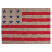 Lorena Canals American Flag Machine Washable Kids Rug, 1.2m x 1.5m, Handmade From 100% Natural Cotton and Non-Toxic Dyes, Perfect for Nursery, Baby, Playroom, or Childrens Rooms