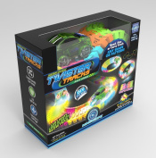Mindscope Twister Tracks Neon Glow in the Dark 221 Piece (3.4m) of Flexible Assembly Track Race Series