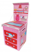 Foldaway Children's Dolls Changing Station / Changing Mat / Table Space-Saver. Doubles Lid for Use as a Storage Box.