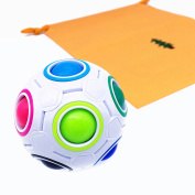 Ball Magic Cube,Original Colour Rainbow Magic Ball 3D Puzzle Intelligence Educational Toys,Stress Reducer Finger Toy Great Gift For Children Kids