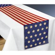 Amscan International 570025 4th July USA Fabric Table Runner