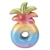 VLAMPO Squishy Stress Toys Squishies Soft Slow Rising Pineapple Donut 15cm 1 Piece