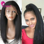 Natural Looking Italian Yaki Lace Front Wigs/ Silk Top Lace Front Wigs Best Brazilian Remy Human Hair Wigs with Baby Hair for African Americans 130 Density
