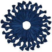 Pick Your Colours Bulk Knotted Elastic Hair Ties (Navy Blue) 25 Count by Cyndibands