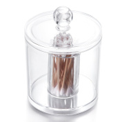 Choice Fun Round-Shape Hair Ring Accessories Q-tips Storage Jar with built-in Cylinder for Brush and stationery Multifunctional