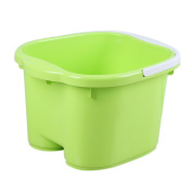 Foot Spa Bucket with Handle and Removable Rollers for Massage