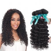 Swan Brazilian Virgin Hair Deep Curly Remy Human Hair 3 Bundles Weaves 100% Unprocessed Hair Extensions Natural Colour