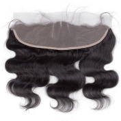 Bolin Hair Ear To Ear 33cm x 10cm Full Frontal Body Wave Bleached Knots With Baby Hair Unprocessed Brazilian Virgin Remy Human Hair Front Closures