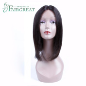 Fairgreat Glueless Silky Straight Lace Frontal Human Hair Wigs Natural Colour Can Dye and Bleached Non Remy 100% Human Hair(30cm )