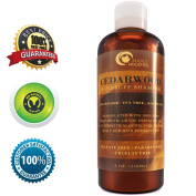 Anti-Dandruff Thickening Shampoo with Cedarwood Essential Oil - Stop Hair Loss + Promote Hair Growth -Treat Psoriasis Flakes + Scales - Make Hair Soft + Increase Volume - Healthy Scalp Treatment