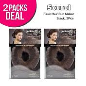 SCUNCI Faux Hair Bun Maker