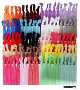 Kenz Laurenz Hair Ties 100 Elastic Lace Ponytail Holders Ribbon Knotted Bands