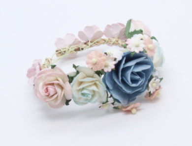 Sweet Mix Soft Blue Purple Shade Flower Paper Hand Band Mulberry Paper Flowers Scrapbooking Wedding Decoration