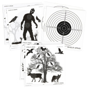 150 x Anglo Arms 50 of Each 140 x 140mm Paper Shooting Targets Set in Zombies Animals and Rings
