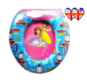 Child's Soft Cushioned Toilet seat (With cartoon characters) (Training Seat) (portable potty)