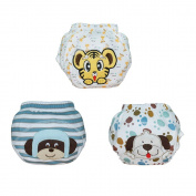 Babyfriend 3PCS New Cute Soft Cotton Baby Potty Training Pants Washable Learning Pants