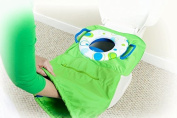 Pack 'n Potty Travel Potty Seat - Zigzag, an all-in-one solution for public restrooms