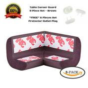 Corner Guards, Baby Bumpers, Furniture Corner Protector, 3M tape, 8pc, + Gift 6 Lock Plug Baby Safe