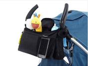 MONSTAR Stroller Organiser & Bottle and Nappy Bag - Universal Fit Stroller Storage Accessories and Portable Stroller Bag with Cup Holders Insulated
