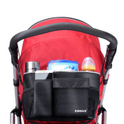 Raniaco Multi-Functional Baby Stroller Attachable Organiser Bag - Universal Design, Conveniently Portable Sized Lunch Bag