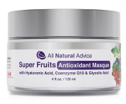 Super Fruits Antioxidant Masque   Cleansing Facial Mask for Men & Women   Anti-Ageing Natural Exfoliate   Clay, Green Tea, Vitamin C, Grapeseed   Men and Women   Canadian Made   120 ml   DOUBLE THE SIZE