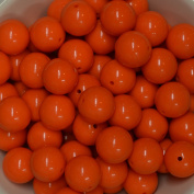 20mm Bulk package 50 ORANGE Solid Acrylic Chunky Bubblegum Beads Loose Gumball Beads Lot