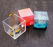 Silicone Pendant DIY Moulds Resin Jewellery Making Tools Moulds - Cube Shape Pack of 2