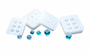DOYOLLA 4 Pack Silicone DIY Bead Mould Round Square Shape Jewellery Making Hand Craft Tool
